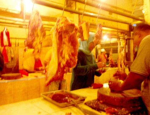 Penjual Daging Sapi di Pasar Cisalak Depok