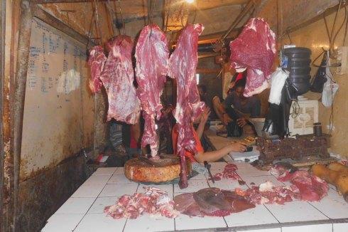 Pedagang Daging di Pasar Cibinong Bogor